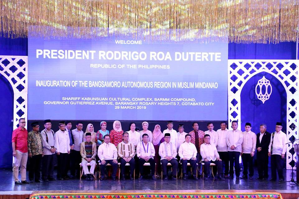 Duterte leads inauguration of Bangsamoro Government